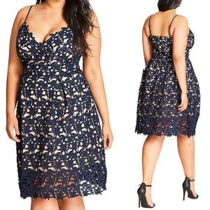 City Chic Dress So Fancy Crochet lace dress